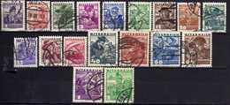 Österreich/Austria 1934/36 Mi 567-583; 585, Gestempelt [170819XXVII] - 1918-1945 1ra República