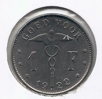 ALBERT I * 1 Frank 1922 Vlaams * Nr 5550 - 07. 1 Franc