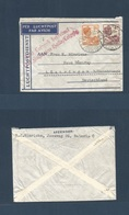 DUTCH INDIES. 1934 (25 July) Batavia - Germany, Lustringen. Fkd Air Lettershet, German Airpost Special Cachet. Fine. Sca - Nederlands-Indië