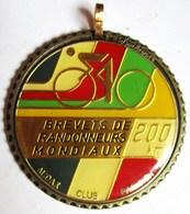 MEDAILLE AUDAX EMAILLEE CLUB PARISIEN BREVETS DE RANDONNEURS MONDIAUX 200 KM SIGNEE DORLEANS BERAUDY 63 AMBERT - Cyclisme