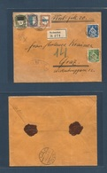 Switzerland - XX. 1923 (8 Jan) Turbenthal - Graz, Austria (11 Jan) Registered Insured 20fr Multifkd Fkd Envelope Includi - Switzerland