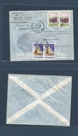 INDOCHINA. 1957 (26 July) Saigon - Switzerland, Geneve. UNESCO Agency, Special Cachet Multifkd Envelope. Fine Usage. - Briefmarken