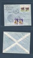 INDOCHINA. 1957 (26 July) Saigon - Switzerland, Geneve. UNESCO Agency, Special Cachet Multifkd Envelope. Fine Usage. - Postzegels