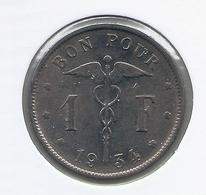 ALBERT I * 1 Frank 1934 Frans * Nr 5556 - 07. 1 Franc