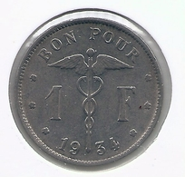 ALBERT I * 1 Frank 1934 Frans * Nr 5557 - 07. 1 Franc