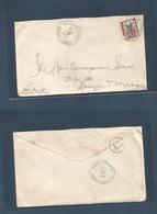 DOMINICAN REP. 1916 (29 Oct) San Cristobal - USA, Springfield. Fkd Env. Modified Date Manuscript Day. Fine. - Dominikanische Rep.