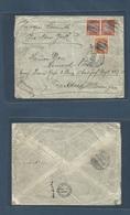 DOMINICAN REP. 1905 (16 Feb) S. Pedro Macoris - Germany, Treiburg (6 March 05) Per Vapor Seminole Via NYC. Fkd Env At 20 - Dominikanische Rep.