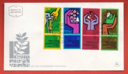 ISRAEL, 1964, Mint FDC, Insurances, SG270-273, F4401 - FDC