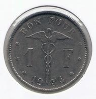 ALBERT I * 1 Frank 1934 Frans * Nr 5558 - 07. 1 Franc