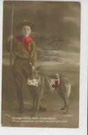 GUERRE 1914-18 - CHIENS - DOG  - RED CROSS - Jolie Carte Fantaisie Chien De La Croix Rouge Et Enfant Soldat - Patriottisch
