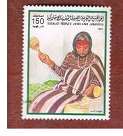 LIBIA (LIBYA) -  SG 1504   -     1984  HANDICRAFTS: SPINNER    -  USED - Libia