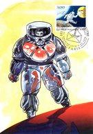 """"""" COSMONAUTE AVEC UNE LETTRE """" Sur Carte Maximum De 1998 N° YT 3155. Parfait état CM - Raumfahrt"""