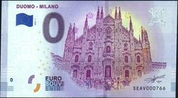 Zero - BILLET EURO O Souvenir - DUOMO - MILANO 2018-1set UNC {Italy} - EURO