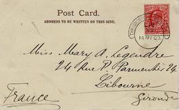 1903- Post Card ( Hare And The Tortoise ) Fr. 1 Penny Canc. L 1d / Throgmorton Avenue B.O.E.C. - 1902-1951 (Re)