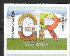 SPAIN, 2019, MNH, 12 MONTHS 12 STAMPS,  GRANADA, MOUNTAINS, FLOWERS, FOOD, JAMÓN, FRUIT, POMEGRANATES,    1v - Geology