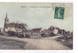 Côte-d'Or - Braux - L'église Et La Rue Principale - Altri Comuni