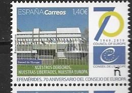 SPAIN, 2019, MNH, COUNCIL OF EUROPE, 1v - European Community