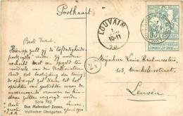 Belgique. TP 86 CPI Louvain (Station) > Louvain   1910 - 1910-1911 Caritas