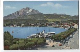 Luzern Mit Pilatus - Meer Met Schip - Panorama - LU Lucerne