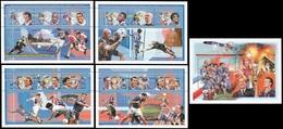 Soccer Football Mali 4 KB 2124/35 + Bl 128 1998 World Cup France MNH ** - World Cup