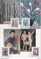 TCHECOSLOVAQUIE CZECHOSLOVAKIA CESKOSLOVENSKO Pochette De 12 Cartes Maximum Card Lot Mucha Kupka Capek Picasso Praga 88 - Modern