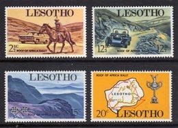LESOTHO - 1969 CAR RALLY SET (4V) FINE MOUNTED MINT MM * SG 171-174 - Lesotho (1966-...)
