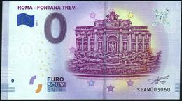 Zero - BILLET EURO O Souvenir - ROMA - FONTANA TREVI 2019-1set UNC {Italy} - EURO