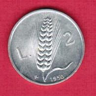 ITALY   2 LIRE 1950 (KM # 88) #5360 - 1946-… : Republic
