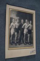 Grande Photo Ancienne D'un Groupe De Boxeur,Boxe,région De Namur,originale,22 Cm. Sur 15,5 Cm. - Autres