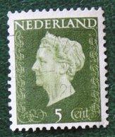 5 Ct Koningin Wilhelmina NVPH 474 (Mi 477) 1947 -1948 Gebruikt / Used NEDERLAND / NIEDERLANDE - Gebraucht