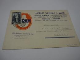 RIONERO IN VULTURE --- LAMPADE  --LUCE  -- ELETTRICITA' --  ANTONIO VARLOTTA  & FIGLIO -- OSRAM - Cartoline