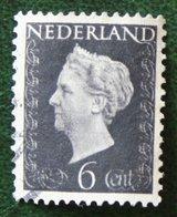 6 Ct Koningin Wilhelmina NVPH 475 (Mi 478) 1947 -1948 Gebruikt / Used NEDERLAND / NIEDERLANDE - Gebraucht