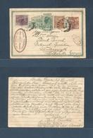 Brazil -Stationary. 1923 (27 Dec) Santa Cruz - Netherland, Wintersniyk. 100rs Green Stat Env At 3 Adtls Incl Train Issue - Brasilien