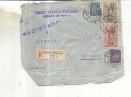 Lettre Recommandée De Porto Central Vers Douala (Cameroun) 1949 - 1910-... République