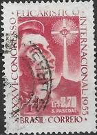 BRAZIL 1955 36th International Eucharistic Congress - 2cr.70 - Lake (St. Pascoal) FU - Brasilien
