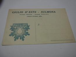 SULMONA  -- L'AQUILA  --- LAMPADE  --LUCE  -- ELETTRICITA' --  GIULIO D'ESTE  -- LAMPADA PHILIPS - Cartoline