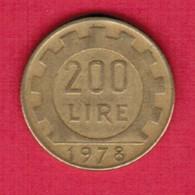 ITALY   200 LIRE 1978 (KM # 105) #5362 - 1946-… : Republic