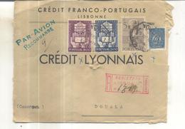 Lettre Recommandée De Lisboa Vers Douala (Cameroun) 1949 - Lettres & Documents