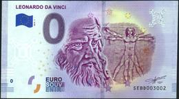 Zero - BILLET EURO O Souvenir - LEONARDO DA VINCI 2019-1set UNC {Italy} - EURO