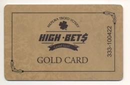 UKRAINE Kyiv Casino High Bets Card Of Gaming Machines MEMBER Card Plastic Gold Card - Casinokarten