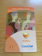 Hotelkarte Room Key Keycard Clef De Hotel Tarjeta Hotel CABIN CARD  COSTA NEOROMANTICA AMBRA - Télécartes