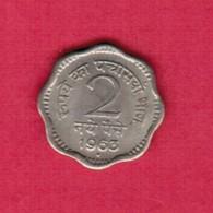 INDIA   2 NAYE PAISE 1963 (KM # 11) #5363 - India