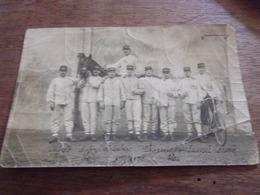 54 LUNEVILLE 1913 CARTE PHOTO MILITAIRE  CHEVAL VELO  PLIS - Luneville