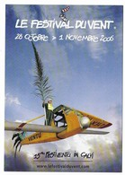 CALVI.3 Cartes Postales Neuves . FESTIVENTU . Fête De L'air 2002 Et 2006. - Calvi