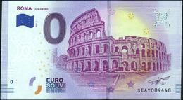 Zero - BILLET EURO O Souvenir - ROMA {colosseo} 2019-1set UNC {Italy} - EURO