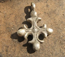 Ancient Medieval Silver Cross 10-13 Centuries - Archeologia