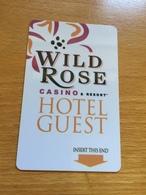 Hotelkarte Room Key Keycard Clef De Hotel Tarjeta Hotel  WILD ROSE CASINO RESORT EMMETSBURG IOWA - Télécartes