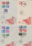 DDR . Fuenfjahrplan I Auf 4 Ersttagsbriefen , 170 Euro Michel - Covers & Documents