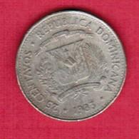 DOMINICAN REPUBLIC   25 CENTAVOS 1983 (KM # 61) #5365 - Dominikanische Rep.