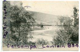 - LAISSEY - ( Doubs ) -la Passerelle Sur Le Doubs, écrite, 1905, TTBE, Scans. - France